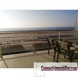 fort mahon 80120 appartement face mer T3 2 parking terrasse
